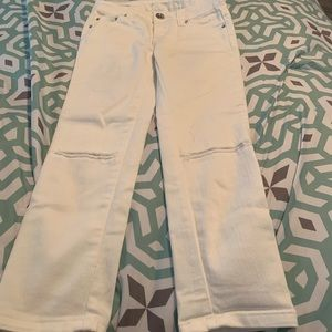 Girls size 10R justice white jeans